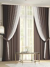 Комплект штор ТомДом Лайрис (коричневый)