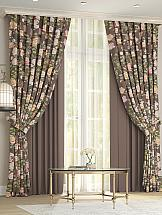 Комплект штор ТомДом Виорис (коричневый)