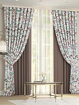 Комплект штор ТомДом Дейси (коричневый)