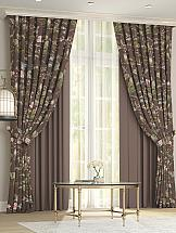Комплект штор ТомДом Клайси (коричневый) комплект штор томдом клайси ягодный