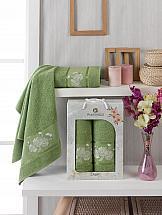 Комплект полотенец ТомДом Рокара (зеленый) цена и фото