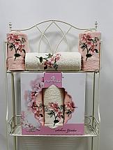 Комплект полотенец ТомДом Фитиас (пудра) комплект полотенец томдом гермея пудра