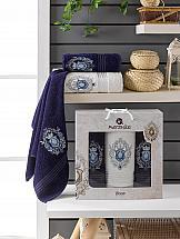 Комплект полотенец ТомДом Мунпас (синий) комплект полотенец томдом смиволия синий