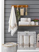 Комплект полотенец ТомДом Миндри (кремовый)
