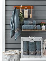 Фото - Комплект полотенец ТомДом Миндри (темно-серый) набор полотенец karna devon цвет зеленый 50 х 90 см 70 х 140 см 2 шт