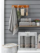 Комплект полотенец ТомДом Миндри (серый)