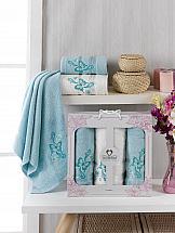 Фото - Комплект полотенец ТомДом Морисет (мятный) набор полотенец karna devon цвет зеленый 50 х 90 см 70 х 140 см 2 шт