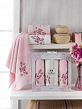 Комплект полотенец ТомДом Морисет (светло-розовый) цена и фото