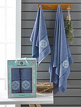 Комплект полотенец ТомДом Иминовис (темно-голубой) набор банных полотенец aquarelle весна 720619 темно синий светло желтый 50 х 90 см 2 шт