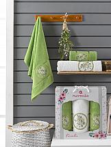 Комплект полотенец ТомДом Бунвисто (зеленый) цена и фото