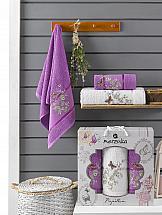 Комплект полотенец ТомДом Старсон (фиолетовый) комплект полотенец томдом старсон фиолетовый