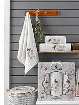 Комплект полотенец ТомДом Старсон (кремовый) комплект полотенец томдом старсон фиолетовый