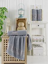 Комплект полотенец ТомДом Гансит (светло-серый) цена и фото