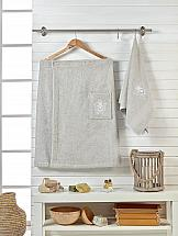 Комплект полотенец ТомДом Эшима (серый) килт для бани и сауны главбаня мужской цвет салатовый длина 65 см