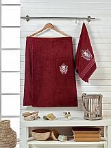 Комплект полотенец ТомДом Эшима (ордовый) килт для бани и сауны главбаня мужской цвет салатовый длина 65 см