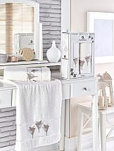 Комплект полотенец ТомДом Миланго (кремовый) набор махровых полотенец karna esra цвет кремовый 50 х 90 см 70 х 140 см 2 шт