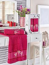 Комплект полотенец ТомДом Миланго (бордовый) полотенце для ванной wess unbeaujour цвет желтый бордовый 70 х 140 см