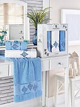 Комплект полотенец ТомДом Бушфил (голубой) полотенца karna комплект полотенец детский karna bambino train 50 70 70 120 голубой