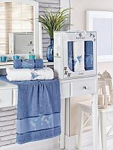 Комплект полотенец ТомДом Бушфил (темно-голубой) полотенца karna комплект полотенец детский karna bambino train 50 70 70 120 голубой