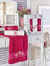 Комплект полотенец ТомДом Бушфил (бордовый) комплект полотенец томдом бушфил голубой