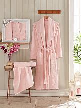 цена Халат ТомДом Верган XXL (розовый) онлайн в 2017 году
