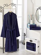 Халат ТомДом Фелита XL (синий) рубашка женская bello belicci цвет темно синий sa1 9 размер xl 48