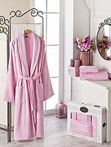 Халат ТомДом Фелита XL (светло-розовый) цена