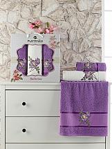 Комплект полотенец ТомДом Симпо (фиолетовый)