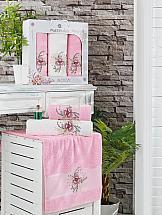 Комплект полотенец ТомДом Тафири (розовый)