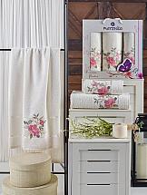 Комплект полотенец ТомДом Гарбит (кремовый) комплект емкостей для продуктов giaretti браво цвет кремовый 900 мл 3 шт