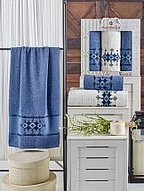цена Комплект полотенец ТомДом Денсвиль (темно-голубой) онлайн в 2017 году