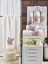 Комплект полотенец ТомДом Эмхис (кремовый) комплект емкостей для продуктов giaretti браво цвет кремовый 900 мл 3 шт