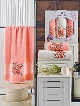 Фото - Комплект полотенец ТомДом Эмхис (оранжевый) набор полотенец karna devon цвет зеленый 50 х 90 см 70 х 140 см 2 шт