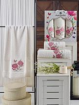 Комплект полотенец ТомДом Имбис (кремовый) набор махровых полотенец karna esra цвет кремовый 50 х 90 см 70 х 140 см 2 шт