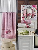 Комплект полотенец ТомДом Имбис (светло-розовый) набор банных полотенец aquarelle весна 720619 темно синий светло желтый 50 х 90 см 2 шт