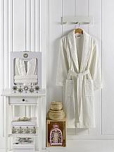 Халат ТомДом Руаса XL (кремовый) халат универсальный karna хлопок smart xl 3048 char002 кремовый