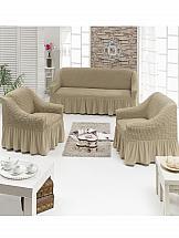 Комплект чехлов для мебели ТомДом Сэнго (молочный)