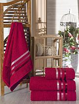 Комплект полотенец ТомДом Селами (бордовый)