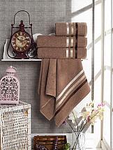 Комплект полотенец ТомДом Селами (коричневый)