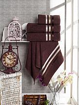 Комплект полотенец ТомДом Селами (шоколадный)
