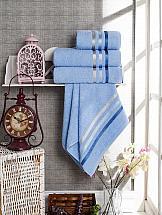 Комплект полотенец ТомДом Селами (голубой) полотенца karna комплект полотенец детский karna bambino train 50 70 70 120 голубой