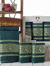 Комплект полотенец ТомДом Амфос (зеленый) цена и фото