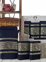 Комплект полотенец ТомДом Амфос (синий) комплект полотенец томдом смиволия синий