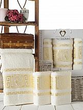 Комплект полотенец ТомДом Амфос (кремовый) комплект емкостей для продуктов giaretti браво цвет кремовый 900 мл 3 шт