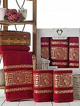 Комплект полотенец ТомДом Амфос (бордовый) полотенце для ванной wess unbeaujour цвет желтый бордовый 70 х 140 см