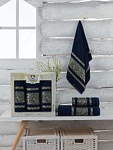 цена Комплект полотенец ТомДом Амфос (темно-синий) онлайн в 2017 году