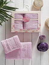 Комплект полотенец ТомДом Нетирс (розовый)