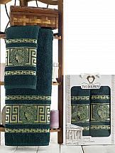 Фото - Комплект полотенец ТомДом Манфри (зеленый) набор полотенец karna devon цвет зеленый 50 х 90 см 70 х 140 см 2 шт
