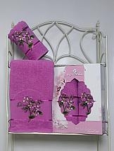 Комплект полотенец ТомДом Фереллия (светло-лиловый) полотенца soavita полотенце chloe цвет светло лиловый 30х70 см 3 шт