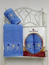 Комплект полотенец ТомДом Галеви (голубой) полотенца karna комплект полотенец детский karna bambino train 50 70 70 120 голубой